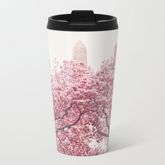 New York City - Central Park - Cherry Blossoms Metal Travel Mug