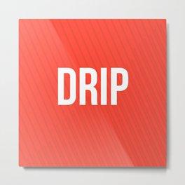 Drip Red Design Metal Print