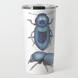 handmade *Oectosis cylindrica* pointillism insect illustration - dot joe Travel Mug