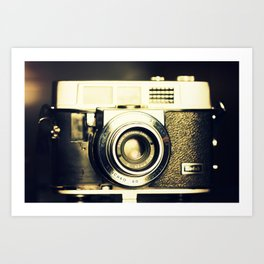 The heart and mind are the true lens of the camera Art Print