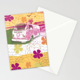 girl camper Stationery Cards