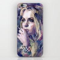 "lindsay lohan iPhone & iPod Skins featuring ""Lindsay Lohan"" by Emma Reznikova"