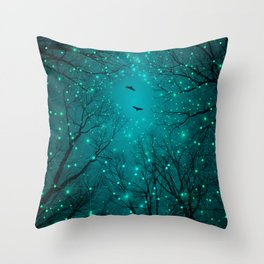 One by One, the Infinite Stars Blossomed Throw Pillow