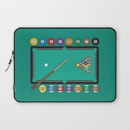 Billiards Table and Equipment Laptop Sleeve