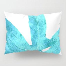Ocean Blue Fern Pillow Sham