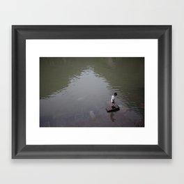 chinese kid Framed Art Print