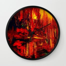 """""""Summer on the Delta"""" Abstract Acrylic by Noora Elkoussy Wall Clock"""