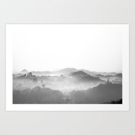 Misty Morning in Mrauk U Art Print