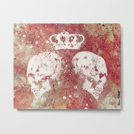 Blood Queendom (spray paint graffiti art, crown with skulls) Metal Print