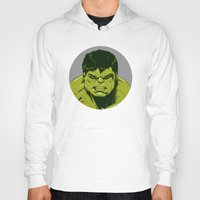 hulk Hoodies featuring Hulk by Hazel