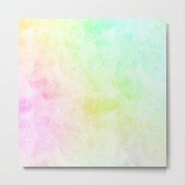 Rainbow Abstract Watercolor P 187 Metal Print