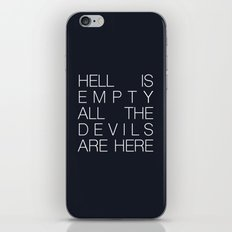 Hell is Empty iPhone & iPod Skin