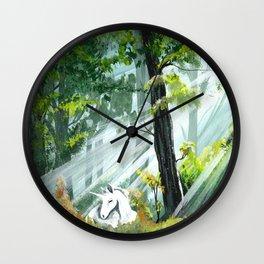 Unicorn Foal II Wall Clock