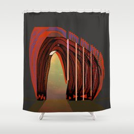 Entrance To The Unknown / Elephant 2 Shower Curtain
