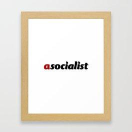asocialist Framed Art Print