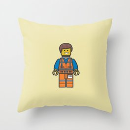 #10 Emmet Lego Throw Pillow