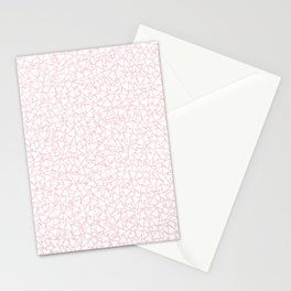 Pink and White Triangles Dizzy All-Over Pattern Stationery Cards