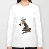 england Long Sleeve T-shirts featuring England by Isabel Moreno-Garcia
