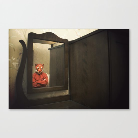 He Waits Silently  Canvas Print