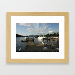 Lake Windermere Boats Framed Art Print