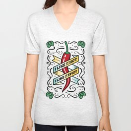 I Like it Hot, I like it Spicy - Chili Pepper Unisex V-Neck