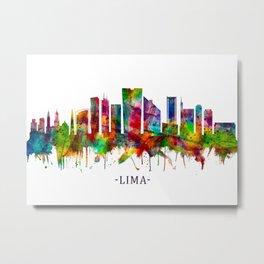 Lima Peru Skyline Metal Print