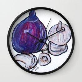 Onion And Garlic Wall Clock