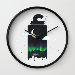 Arabic Letter Alef Wall Clock