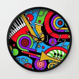 Vintage 2017 Newport, RI Jazz Festival - Fort Adams - Lithograph Advertisement Poster Wall Clock