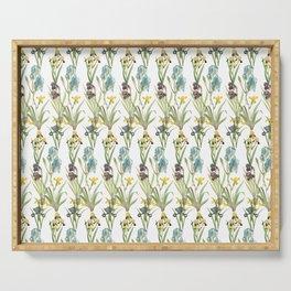 Irises 1 | Iris Flowers | Vintage Floral Pattern | Flower Patterns | Serving Tray