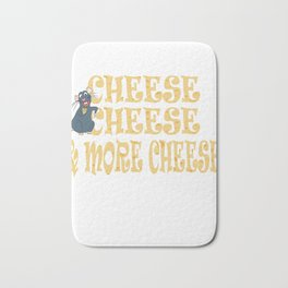 Funny Cheese T-Shirt for people who are addicted to cheese Gouda Buttercheese yellow  Bath Mat