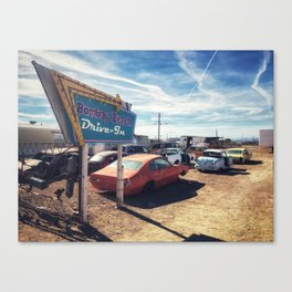 Abandoned Desert Drive-In Canvas Print