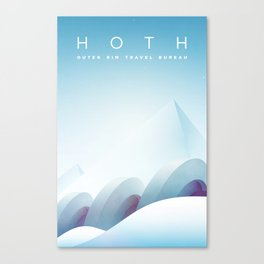 Outer Rim Travel Bureau: Hoth Canvas Print