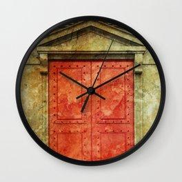 Red Doors Wall Clock