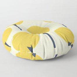 Yellow Pop Trees Floor Pillow