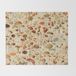 Vintage Mushroom Designs Collection Throw Blanket