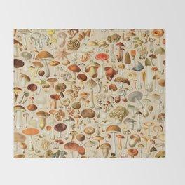 Vintage Mushroom Designs Collection Throw Blanket