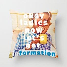 Get inFORMATION Throw Pillow