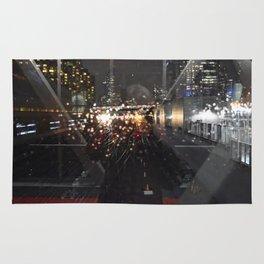 Landscape | Night Urban Reflection | Cityscape | Toronto Life Rug