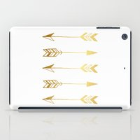 gold foil iPad Cases featuring Faux gold foil arrows by Jaclyn Rose Design