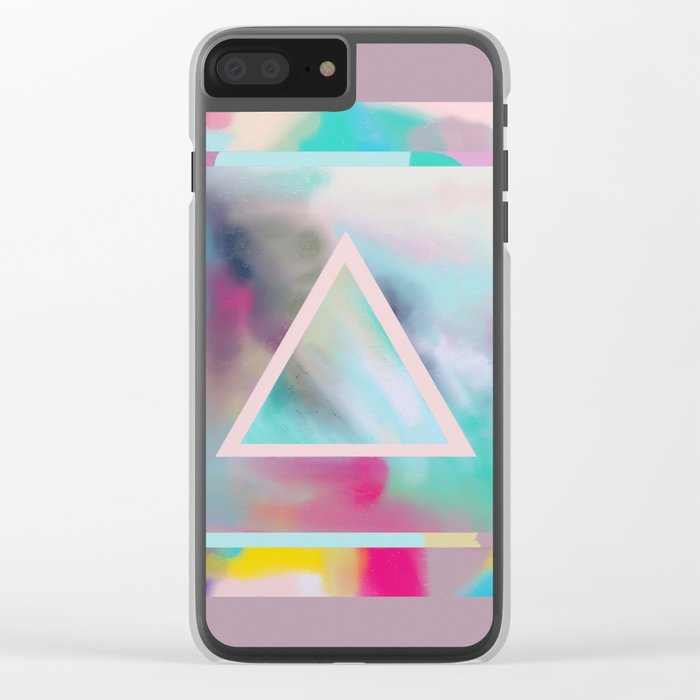 Rose Triangle Manifestation Clear iPhone Case