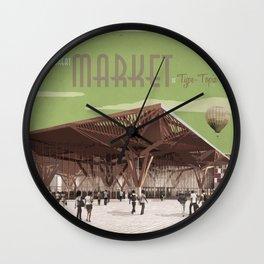 TypeTopia Market 1 Wall Clock