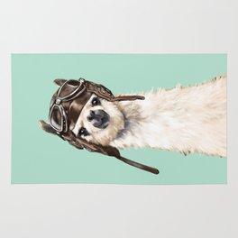 Cool Pilot Llama Rug