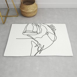 Largemouth Bass Jumping Continuous Line Rug