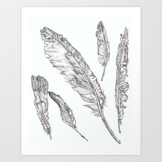 Swedish Feathers Art Print