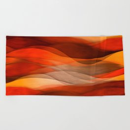 """Sea of sand and caramel waves"" Beach Towel"
