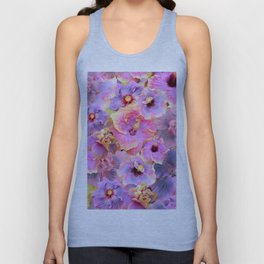 Tropical hibiscus patterns Flower Floral Flowers Unisex Tank Top