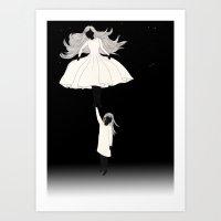 umbrella Art Prints featuring UMBRELLA by auntikatar