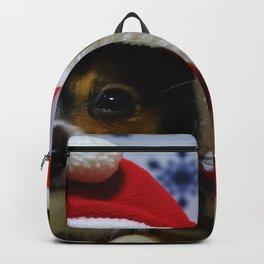 Holiday Christmas Dog Cat Santa Hat Backpack