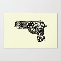 gun Canvas Prints featuring Gun by Jazz Nash